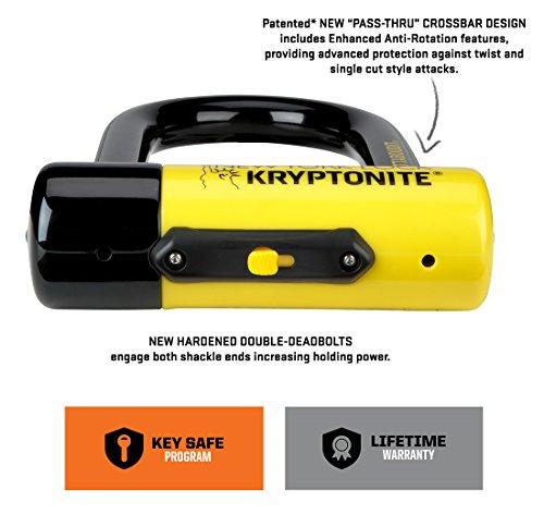 Kryptonite New York Fahgettaboudit Mini Gelb, Fahrradschloss, Gelb, Mini Small e5fa55