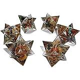 Estrella Merkaba en Orgonita con cristales 7 Chakra, generador de energía para Reiki, sanación y protección - 30 mm