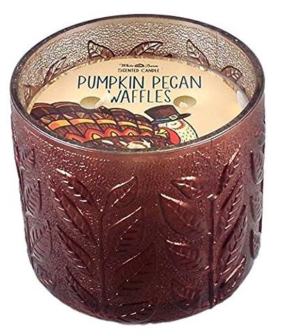 Bath & Body Works Candle 3 Wick 12 Ounce 2015 Pumpkin Pecan Waffles by White Barn