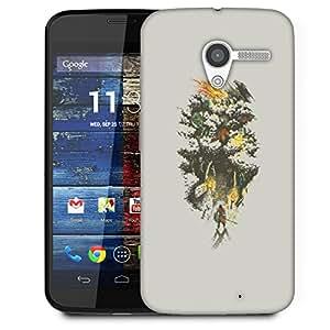 Snoogg Samurai Entereing Jungle Designer Protective Back Case Cover For Motorola Moto X