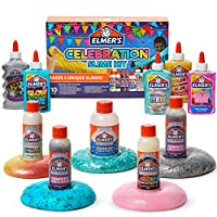Elmer's Celebration Slime Kit | Slime Supplies Include Assorted Magical Liquid Slime Activators and Assorted Liquid Glues, 10 Count