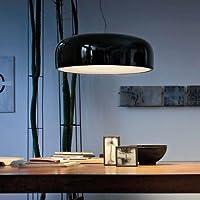 KHSKX Lampada da soffitto di alluminio esotici black 35cm
