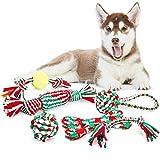 Pecute Giochi per Cani 6 Pezzi per Divertimento e Addestramento Giocattoli della Corda per Pulire Denti Adatti per Cani Piccoli e Medi