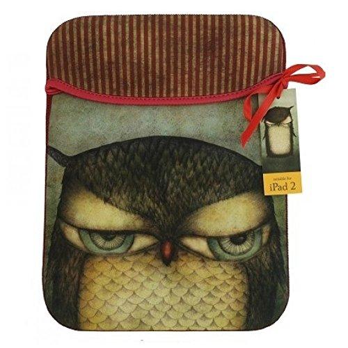 Santoros Grumpy-Custodia a busta per iPad, motivo: gufo