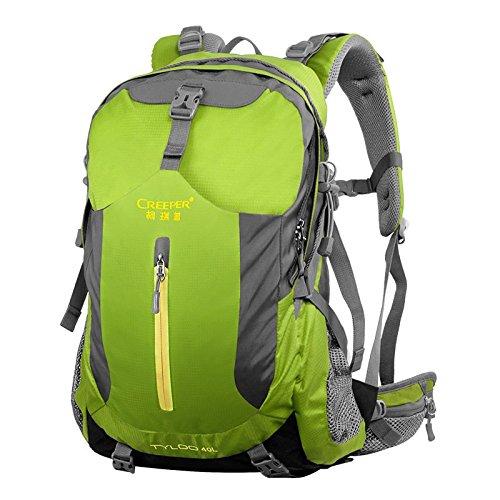 ZQ Freien Bergsteigen Taschen Schulterbeutel, Reisewanderrucksackwasserdicht wear atmungs rose 40 liters