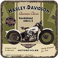 Nostalgic-Art Harley Davidson cabeza de chorlito posavasos de corcho (NA)