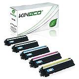 Kineco 5 Toner kompatibel zu Brother TN-230 TN230 für Brother HL-3040 CNG1, MFC9120CN, DCP-9010CN, HL-3070CN, MFC-9320CW, MFC-9325CW - Schwarz je 2.200 Seiten, Color je 1.400 Seiten