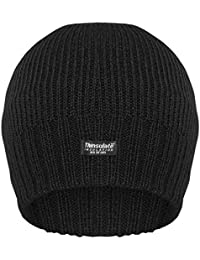 MEN'S FINE RIBBED THINSULATE LINED BEANIE HAT