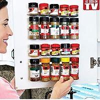 Gamloious 4Pcs/Set Cabinet Clip N Store Kitchen Spice Organizer Rack Stick Storage Gripper Lightweight Seasoning Carrier Bottle Holder