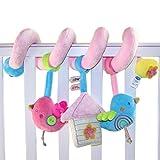 Happy Cherry - Juguetes Colgantes Espiral para Cuna Cochecito bebés niños niñas con sonidos - Pájaro