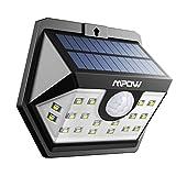 Mpow 20 LED Luz Solar, Súper Brillante Movimiento, Luz de Pared de Seguridad Accionado Solar, Cabeza de Sensor Gran Angular Mejorado de 120°, Impermeable, para Jardín, Garaje, Camino de Entrada, Camino, Patio y Balcón