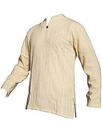 PANASIAM Fischerman Hemd, aus 100% echter freshrunk Baumwolle, M, L oder XL