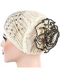 Haarausfall Chemo Tukistore Frauen Chemo Turban Bedruckte Kopftuch Schal Turban Headwear Chemo Beanie Schal Headwear Muslimische Bandana Kopftuch Kopfbedeckung f/ür Krebs
