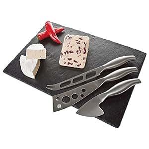 Occasion tagliere in ardesia per formaggi con 3 coltelli for Ardesia per cucinare