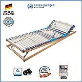 RAVENSBERGER MEDITOP 30-Leisten-Buche-Lattenrahmen | 5-Zonen-Buche-Lattenrahmen | Verstellbar | MADE IN GERMANY - 10 JAHRE GARANTIE | TÜV/GS+LGA/QS - zertifiziert 140x200 cm