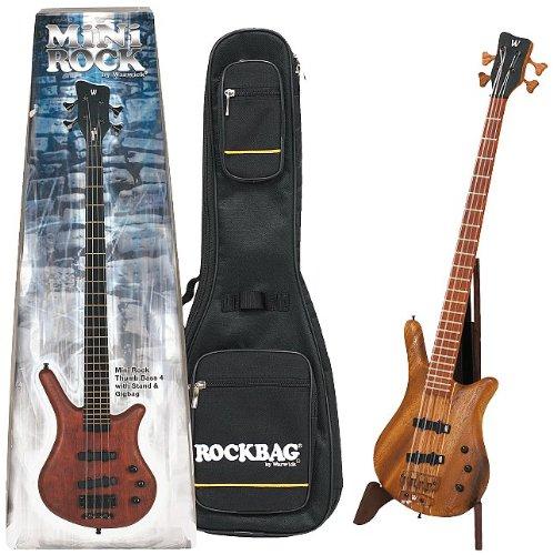Warwick Mini Rock Thumb 4 - Chitarra basso con custodia nera