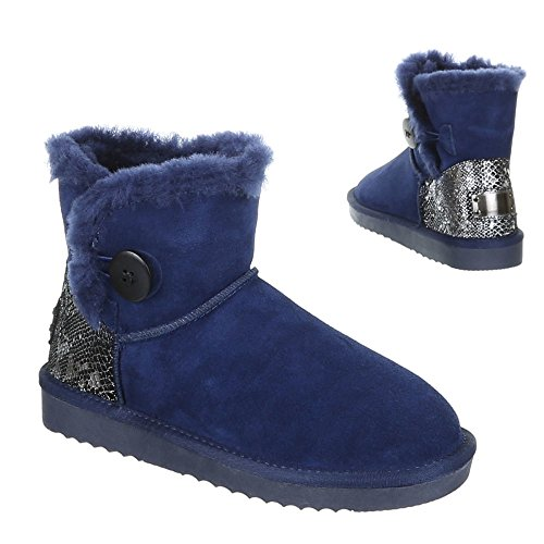 Damen Schuhe, 5803, BOOTS Blau 1
