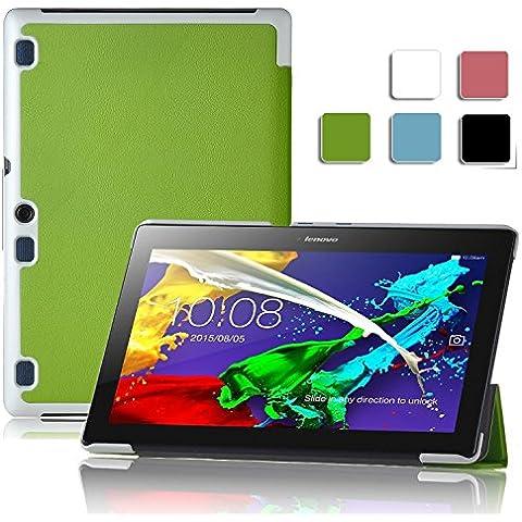 ELTD Ultra-slim Funda de piel de cuerpo entero para Lenovo Tab 2 A10-70 Tablet Tablet con Auto Sleep/Wake Function (Para Lenovo Tab 2 A10-70 Tablet,