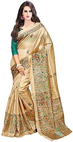 B4Best Creation Women\'s Bhagalpuri Saree