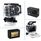 Piqancy HD Sport Action Camera Built-in Detachable Li-Battery, Easy To Exchange, Support Micro SD/TF Card Up To 32GB, 1080P Compatible With Android, IOS, Tablet- Black