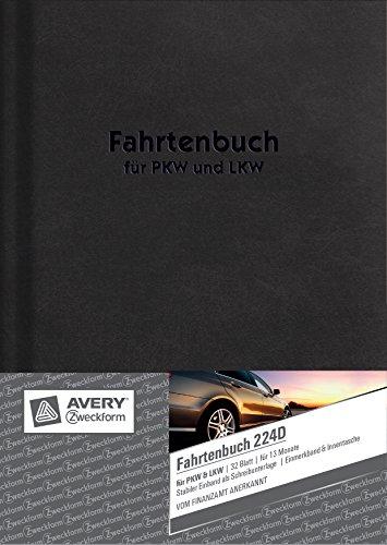 Fahrtenbuch, DIN A5, steuerlicher km-Nachweis, 32 Blatt, weiß ()