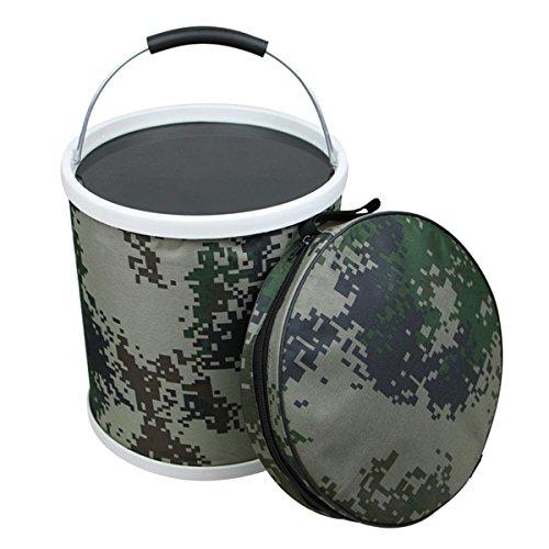 Ruifu 11L Outdoor Living Sports Portable Pliable Seau d'eau pour le camping randonnée Pêche