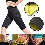 Pantalone pants snellente per donna in noprende, pantaloncino per palestra fitness corsa dimagrante - pantaloncini varie taglie (S)