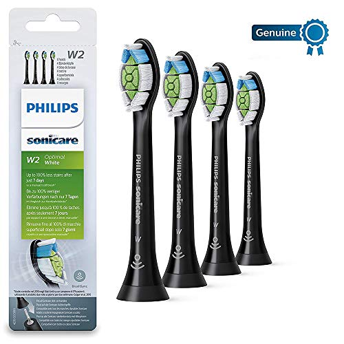 Philips Sonicare optimale Blanc DiamondClean Brushsync activée Têtes de remplacement, Noir, Lot de 4