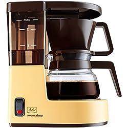 Melitta Cafetera de filtro con jarra de vidrio, Para 2 tazas de café, Aromaboy, Crema, 1015-03