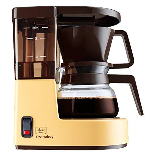 Melitta Aromaboy 1015-03, Kleine Filterkaffeemaschine mit Glaskanne, Beige/Braun - Kaffee-filter Braun Für