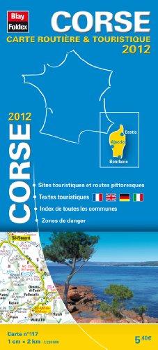 Corse, Carte Régionale, Routière et Touristique N°117. Echelle : 1/200 000, avec index - Edition 2012