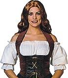 Adultes Accessoire Déguisement Pirates Bar Servante Femmes Velours Corset - Marron, Taille EU 38-42