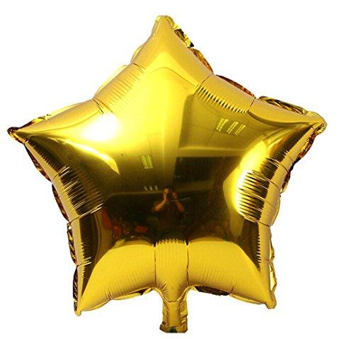 (5 stücke 18 zoll Folie Sterne Ballon Helium Metallic Ballon, Geeignet Für Hochzeit Geburtstagspartys Weihnachten Outdoor Decor von Upxiang (Gold))