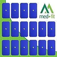 MED-FIT 5x10cm Flexi STIM 16 x 3.5mm Stud (tipo snap/boton) TENS Almohadillas autoadhesivas encajan con BEURER.