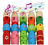 Iyhouse Kinder Spielzeug für 1–8 Jahre, Bunte Holztrompete für Kinder, Klarinette, Musikinstrumente