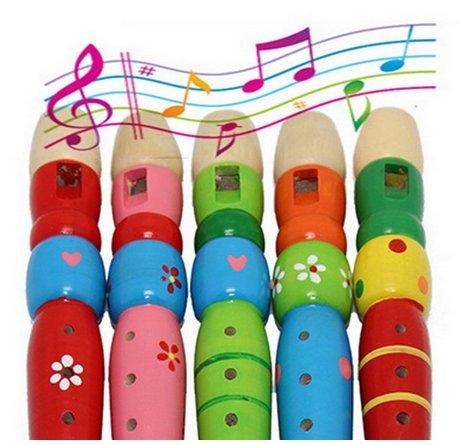 Iyhouse Kinder Spielzeug für 1-8 Jahre, Bunte Holztrompete für Kinder, Klarinette, Musikinstrumente