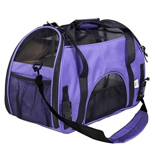 Pet Travel Carrier Box Hund Pet Tasche Komfort Atmungsaktiv Hunde Käfig Outdoor Schlafsack Außen Schulter Messenger Pet Kit Griff Fenster Hund Universal Rucksack, 2, L