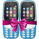I KALL 4.57 Cm (1.8 Inch) Mobile Phone Combo - K3310 (Sky Blue+Sky Blue)