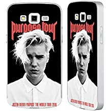 Official Justin Bieber Purpose Poster Tour Merchandise Silver Aluminium Bumper Slider Case for Samsung Galaxy Grand 2