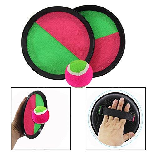 OFKPO Klettball Spiel mit 2 Schläger und 1 Ball,Outdoor Sport Spielzeug für die Ganze Familie