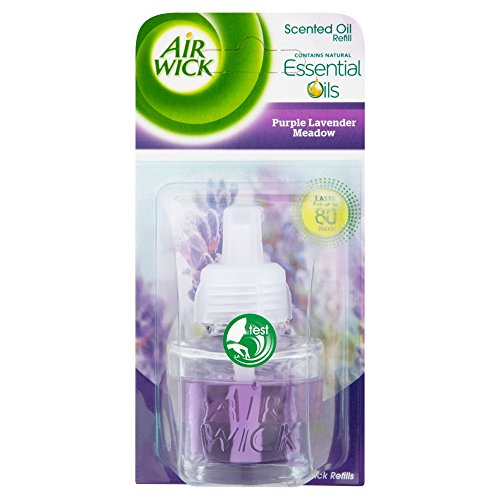 air wick plug in refill air freshener purple lavendar meadow