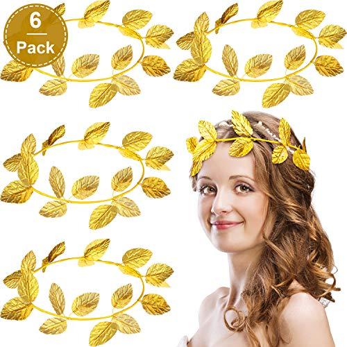 6 Stücke Römischen Kranz Lorbeerblatt Stirnband Gold Ring Stirnband Maskerade Dekoration Stricktuch Kopfschmuck Party Zubehör -