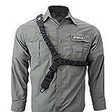 nianpu 1punto Tactical Sling fucile Softair Pistola cinghia regolabile corda, Black