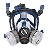 Mascarilla Protectora con Válvula, Máscara respiratoria con Gafas Antipolvo, Personal Seguridad Protección Gases Filtro