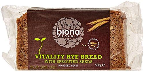 Biona Organic Rye Vitality Bread 500g (Pack of 6)