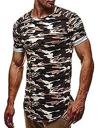 WINWINTOM Moda de Verano Camisetas, 2018 Hombre Camisetas y Polos, Moda Personalidad Vendaje Hombres Casual Ajustado…