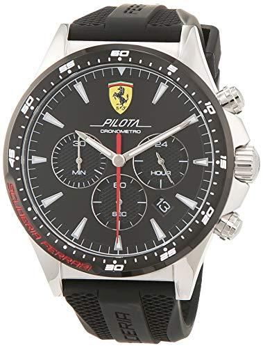 Scuderia Ferrari Herren Chronograph Quarz Uhr mit Silikon Armband 830620