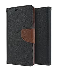 AE MERCURY WALLET STYLE FLIP DIARY CASE COVER FOR motorola Moto G 2(moto G 2nd gen) - BLACK BROWN