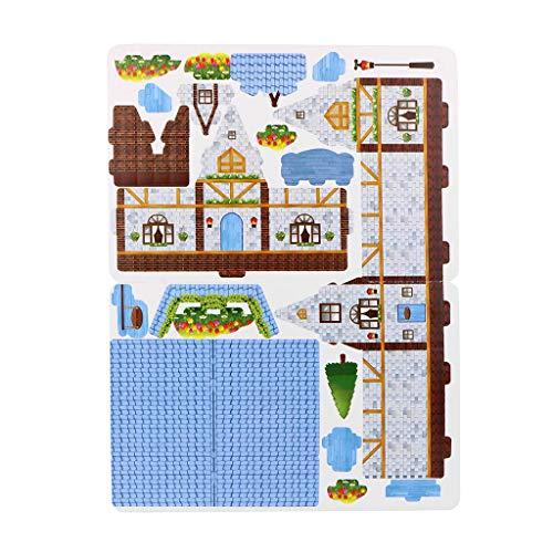 Barlingrock Pretty Dream House 3D-Puzzle-Haus Die besten DIY-Geschenk Kinder Spielzeug Spiele aus Holz Lernen Lernspielzeug Klassische Holzspielzeug Entwicklung Spielzeug