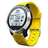 sununitec F69IP68impermeable Natación reloj inteligente llamada mensaje recuerdan reloj de pulsera Monitor de sueño Rastreador de salud para iOS y Android Smartphones, amarillo